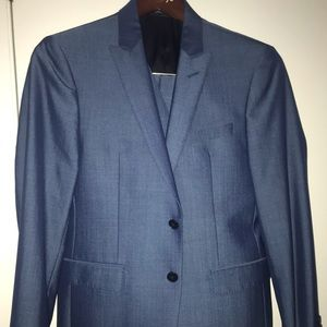 Calvin Klein 3 piece blue suit